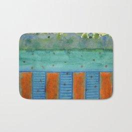 Orange Posts With Landscape Bath Mat
