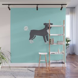 pitbull farting dog cute funny dog gifts pure breed dogs Wall Mural