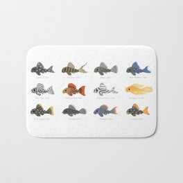 Pleco! - white Bath Mat