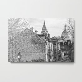 Sacre Coeur view Montmartre Paris Metal Print