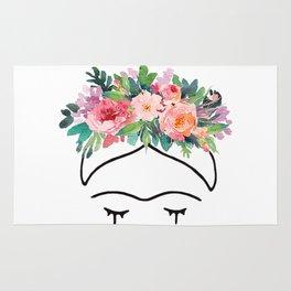 Frida Kahlo Flowers Rug