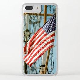 Sailing Ship Flag Clear iPhone Case
