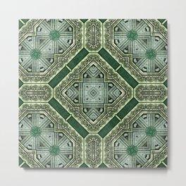 Victorian Art Deco Medieval Pattern SB40 Metal Print
