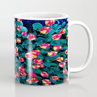 tulips Mugs featuring Tulips by Madison Webb