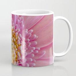 Pink Gerbera Flower in Detail with Yellow Bits Coffee Mug