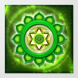"Anahata Chakra - Heart Chakra - Series ""Open Chakra"" Canvas Print"