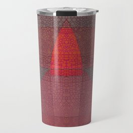 """Pastel Abstract Symmetrical Landscape"" Travel Mug"