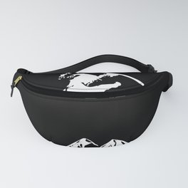 Rocky Mountain Snowboarder Catching Air Fanny Pack