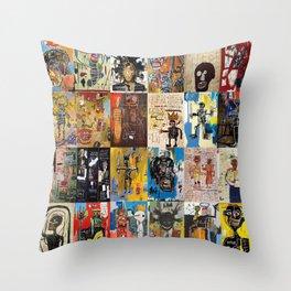 Basquiat Montage Throw Pillow