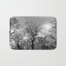Witchy black and white tree Bath Mat