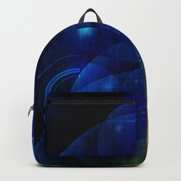 Gold-Blue Space Odyssy Backpack
