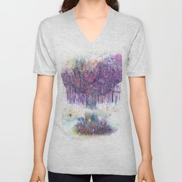 Mystical Tree Illustration Unisex V-Neck