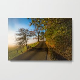 Smoky Morning - Whimsical Scene in Great Smoky Mountains Metal Print