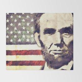 Patriot President Abraham Lincoln Throw Blanket