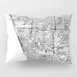Los Angeles White Map Pillow Sham