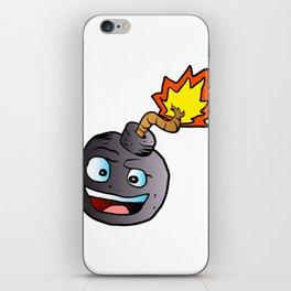 bomb explosive character mascot iPhone Skin