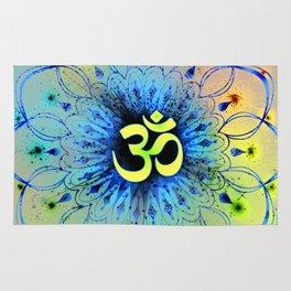 """The higher power of Om"" - sacred geometry Rug"