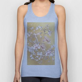 Chinoiserie Gold Unisex Tank Top