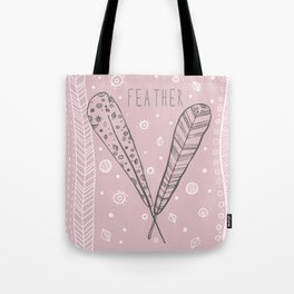 Feather ethnic graphic hand drawing illustration Tote Bag