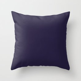 Dark Eclipse Blue Fashion Color Trends Spring Summer 2019 Throw Pillow