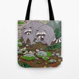 Raccoons & Blackberry Tote Bag