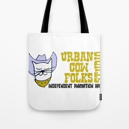 Urbancowfolks Studio Kitty Mustard Logo Tote Bag