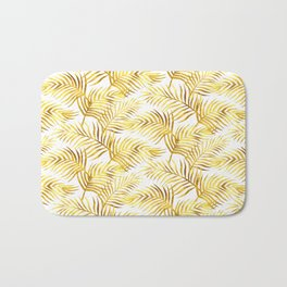 Palm Leaves_Gold and White Bath Mat