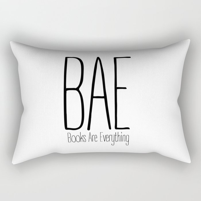 BAE Books Are Everything Bookworm Rectangular Pillow