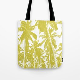 Palm Trees Design in Gold and White Tote Bag