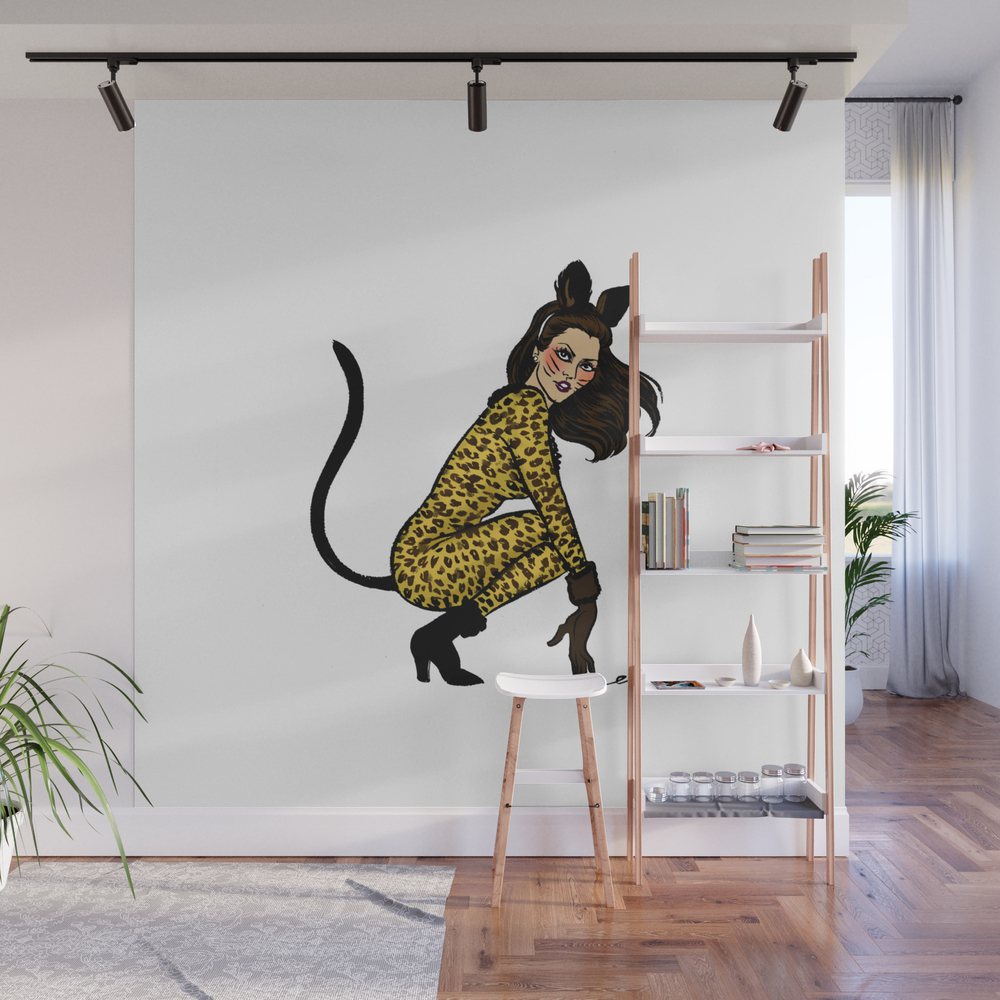 Kitty Cordy Pin Up Wall Mural by Emmamunger WMP7927526