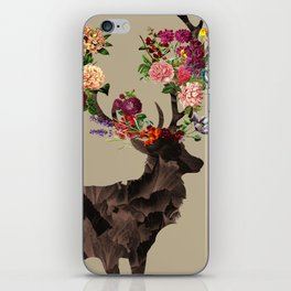 Spring Itself Deer Flower Floral Tshirt Floral Print Gift iPhone Skin