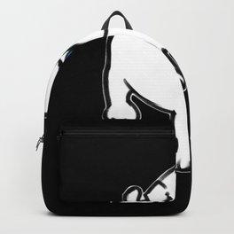 Chalkies pug dog black Backpack