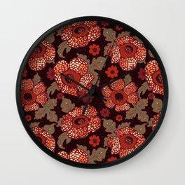 Rafflesia Endangered Flower Wall Clock