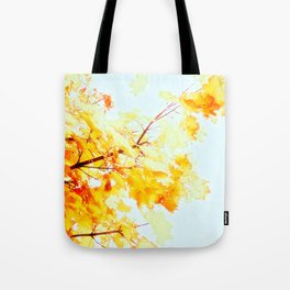 Yellow Maple leaves, Autumn Unfolds Tote Bag