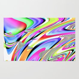 Party Colors Abstract Digtial Art By Annie Zeno  Rug