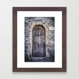 Old French Door Framed Art Print
