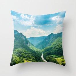 Landscape - Green Mountains  Throw Pillow