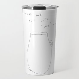 "It's ""Me"" Time - tea cup illustration Travel Mug"