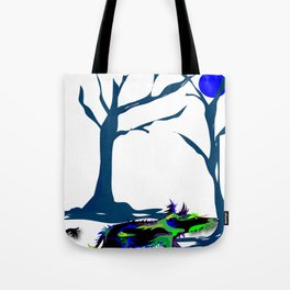 """""""Wolfdog"""" Paulette Lust Original, Contemporary, Whimsical, Colorful Art Tote Bag"""
