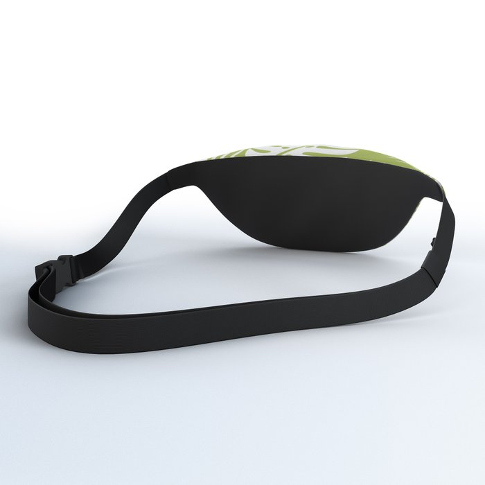 Olive Green Jungle Palm Leaves Pattern Fanny Pack