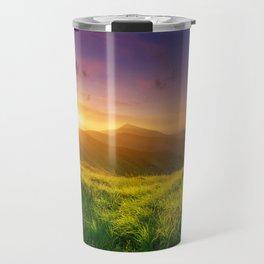 Purple Mountain Sunset Travel Mug