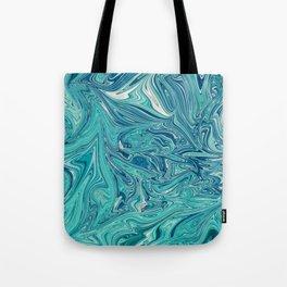 Persian Green Marble Tote Bag
