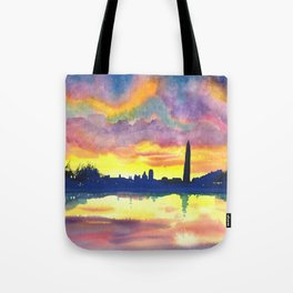 Sunset at the Monument Tote Bag