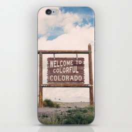 Welcome to Colorful Colorado iPhone Skin