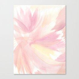 Sunset Sherbert Petal Abstract Canvas Print