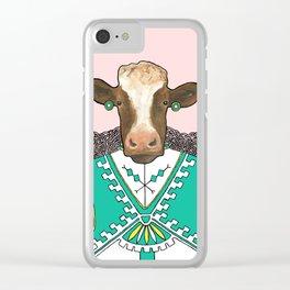 Liselott the Cow Clear iPhone Case