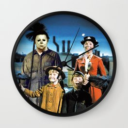 Michael Myers in Mary Poppins Wall Clock