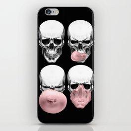 Skulls chewing bubblegum iPhone Skin