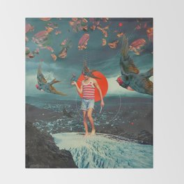 The Boy and the Birds Throw Blanket