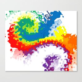 Rainbow Spurt 02 Canvas Print